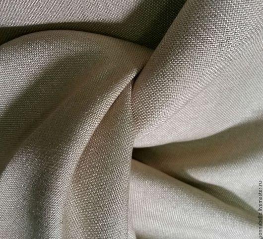 Шитье ручной работы. Ярмарка Мастеров - ручная работа. Купить Портьерная ткань под лен Крем-брюле, светло-бежевый. Handmade.