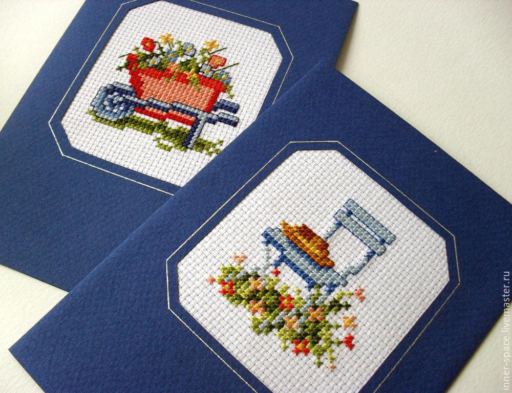 Вышивка крестиком открытки