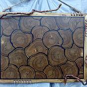 Картины и панно ручной работы. Ярмарка Мастеров - ручная работа Панно из срезов дерева. Handmade.
