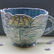 Посуда ручной работы. Ярмарка Мастеров - ручная работа Чашка В любую Погоду. Handmade.