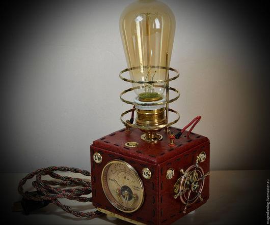 Освещение ручной работы. Ярмарка Мастеров - ручная работа. Купить New V2 Steampunk лампа № 9, с диммером, Эдисон лампа, вольтметр 220V. Handmade.