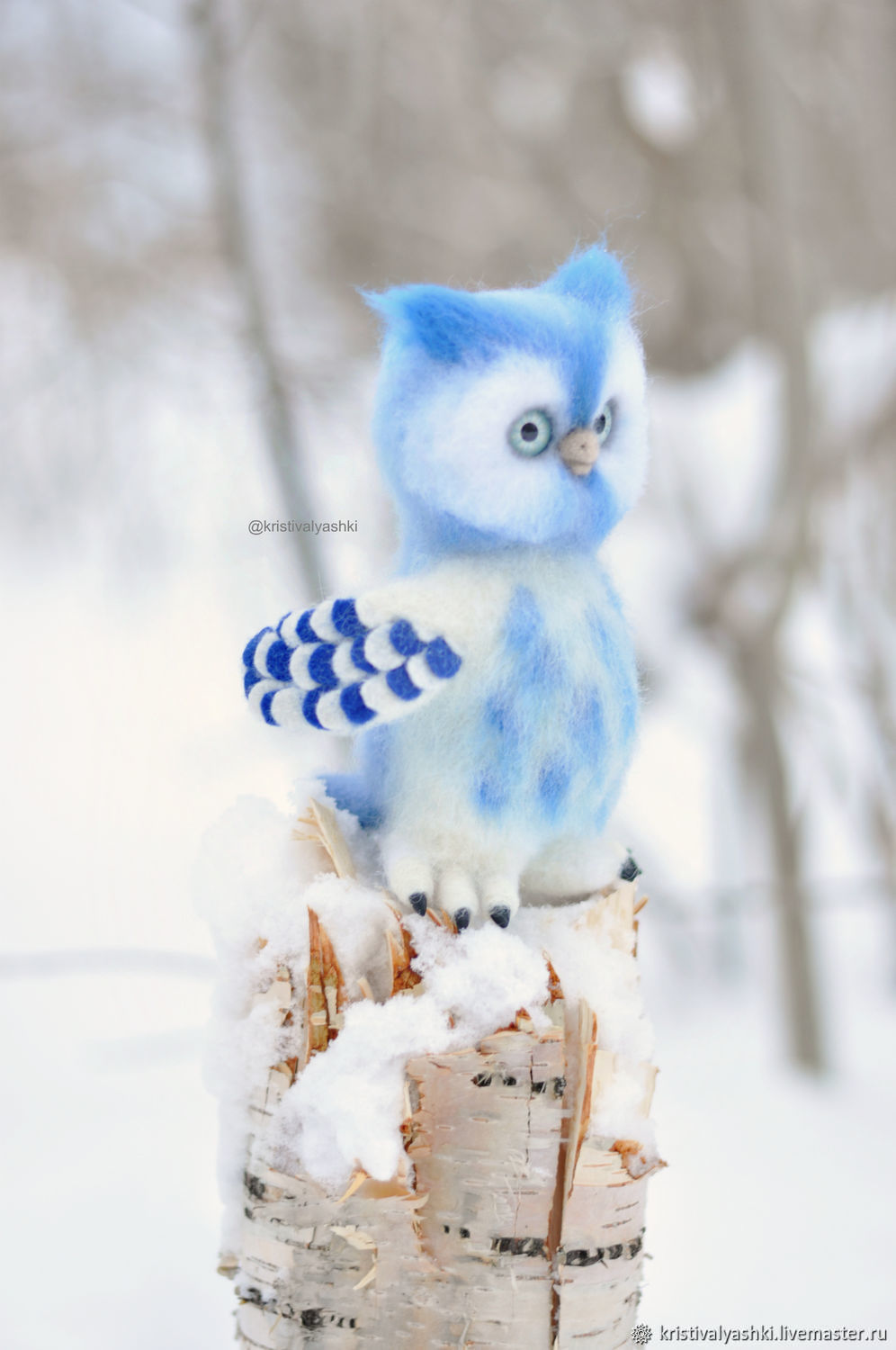 Owl Moon felted toy, Felted Toy, Arkhangelsk,  Фото №1