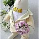 Куклы Тильды ручной работы. Ярмарка Мастеров - ручная работа. Купить Завидный жених. Handmade. Бежевый, с цветами, розовые розы