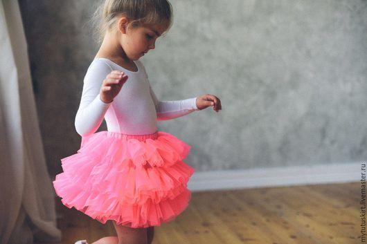 Одежда для девочек, ручной работы. Ярмарка Мастеров - ручная работа. Купить неоновая юбочка пачка. Handmade. Розовый, утренник