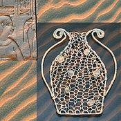 """Украшения handmade. Livemaster - original item Pendant """"amphora of happiness"""" of wire and labradorite. Handmade."""
