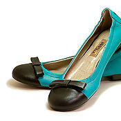 Обувь ручной работы. Ярмарка Мастеров - ручная работа Балетки Sea Wave Blue. Handmade.