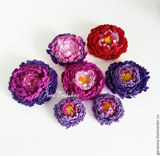 Заколки ручной работы. Ярмарка Мастеров - ручная работа. Купить Цветы из фома на заколках. Handmade. Комбинированный, заколка с цветком, фурнитура