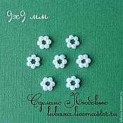Материалы для творчества handmade. Livemaster - original item Flower decorative element 9x9 mm 10 PCs.. Handmade.