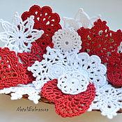Сувениры и подарки handmade. Livemaster - original item A set of Christmas knitted tree ornament. Handmade.