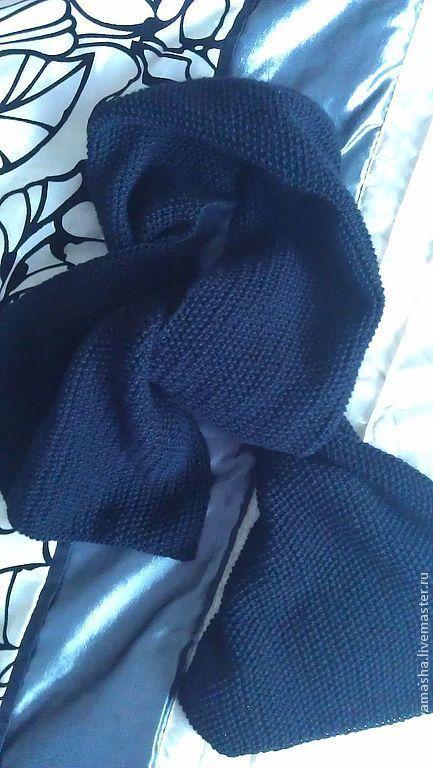 Шарфы и шарфики ручной работы. Ярмарка Мастеров - ручная работа. Купить Шарф мужской. Handmade. Черный, мужской шарф