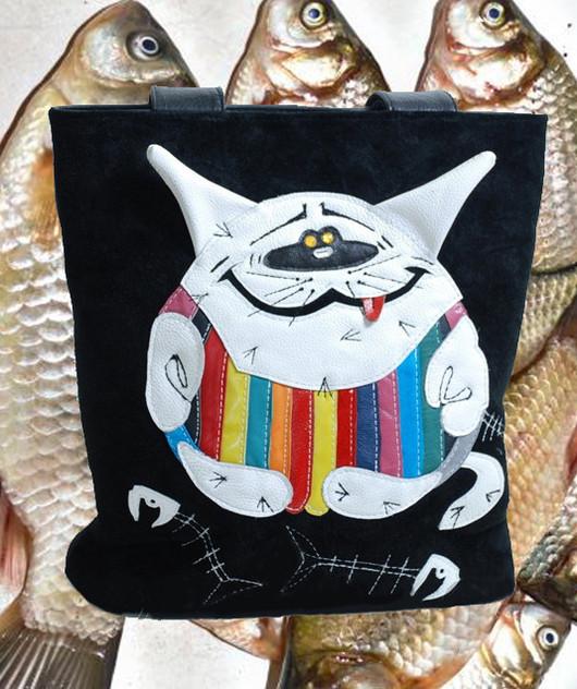 Handbags handmade. Livemaster - handmade. Buy Leather bag 'cat timokha'.Author bag, leather bags, bag accessories
