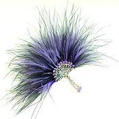Украшения handmade. Livemaster - original item Favorite fan. purple. Brooch.. Handmade.