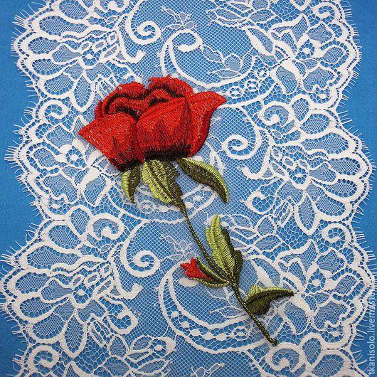 """Аппликации, вставки, отделка ручной работы. Ярмарка Мастеров - ручная работа. Купить Аппликация """"Роза""""  в стиле Dolce&Gabbana. Handmade. Комбинированный"""