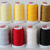 Нитки ручной работы. Ярмарка Мастеров - ручная работа Набор ниток для машинной вышивки 10 цветов Polyester 100%. Handmade.