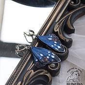 Украшения handmade. Livemaster - original item Earrings butterfly Overflow Poplar leather. Handmade.