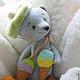 Мишки Тедди ручной работы. Ярмарка Мастеров - ручная работа. Купить Мишутка Скай из серии Акварельки. Handmade. Тедди, голубой