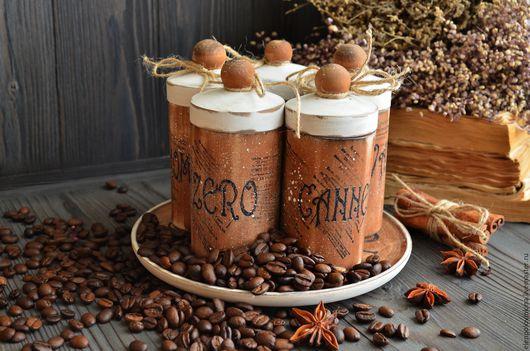 Набор для специй для сопровождения кофейной церемонии.  Необычное дополнение для кухонного интерьера и сервировки кофейного столика. Прекрасный подарок любителям и ценителям ароматного напитка.