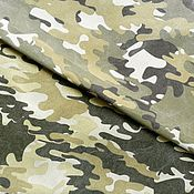 Материалы для творчества handmade. Livemaster - original item Canvas Camouflage 12 oz. The average print. Handmade.