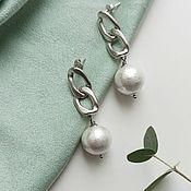 Украшения handmade. Livemaster - original item Earrings classic: Accent. earrings Chain. large earrings. Handmade.