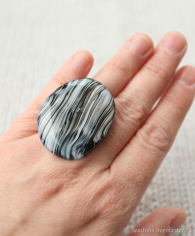 Черно-белое большое кольцо, Кольца, Светлогорск,  Фото №1