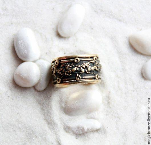 Кольца ручной работы. Ярмарка Мастеров - ручная работа. Купить Мустанги: Бронзовое кольцо. Handmade. Бронза, кольцо ручной работы