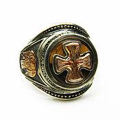 Украшения handmade. Livemaster - original item ring: Orthodox ring guardian angel with a tiger`s-eye. Handmade.