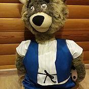 """Кукольный театр ручной работы. Ярмарка Мастеров - ручная работа Куклы: Планшетная кукла """"Медведь"""". Handmade."""