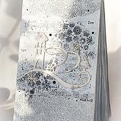 """Канцелярские товары ручной работы. Ярмарка Мастеров - ручная работа Блокнот """"Вьюга"""". Handmade."""