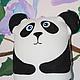 """Игрушки животные, ручной работы. Ярмарка Мастеров - ручная работа. Купить Игрушка-подушка Панда """"Оскар"""". Handmade. Чёрно-белый"""