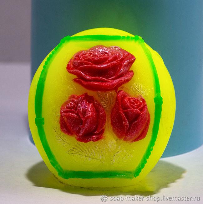 Силиконовая форма для мыла «Шар с розами 3D», Формы, Шахты,  Фото №1