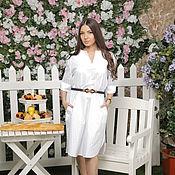 Одежда handmade. Livemaster - original item White dress-shirt