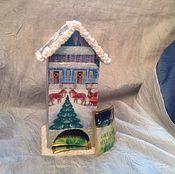 """Подарки к праздникам ручной работы. Ярмарка Мастеров - ручная работа Чайный домик """"новый год"""". Handmade."""