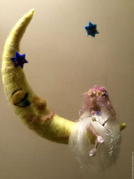 """Коллекционные куклы ручной работы. Ярмарка Мастеров - ручная работа. Купить Валяние """"Ночной этюд"""". Handmade. Белый, коллекционные куклы"""