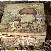 """Для дома и интерьера ручной работы. Ярмарка Мастеров - ручная работа Короб для грибов """"Боровички"""". Handmade."""