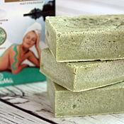 Косметика ручной работы. Ярмарка Мастеров - ручная работа SPA-мыло соляное с зеленой глиной для жирной кожи. Handmade.