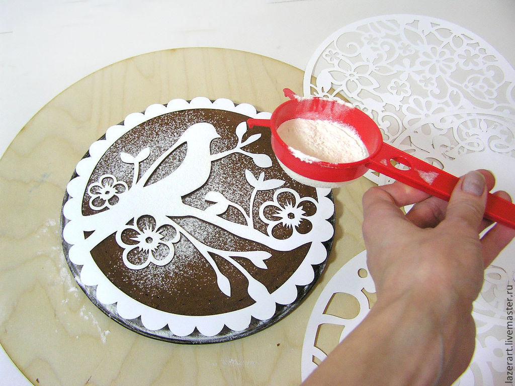 Трафареты на торт своими руками