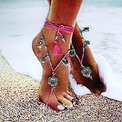 Украшения ручной работы. Ярмарка Мастеров - ручная работа Украшение для ножек, украшения для девочки, пляжное украшение. Handmade.