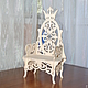 Puppet throne, `the Throne of the king of Peas`, `a Throne for the Princess`887. Blank for decoupage and painting.