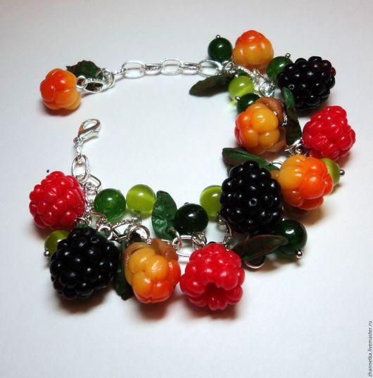 """Браслеты ручной работы. Ярмарка Мастеров - ручная работа. Купить Браслет """"Сочные ягоды"""". Handmade. Разноцветный, ягодный браслет"""