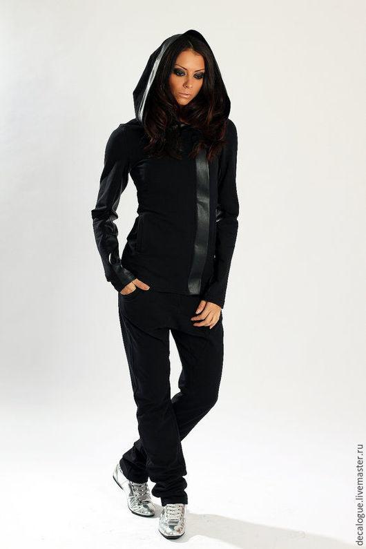 """Спортивная одежда ручной работы. Ярмарка Мастеров - ручная работа. Купить Спортивный костюм """"Black"""". Handmade. Черный, модная одежда"""