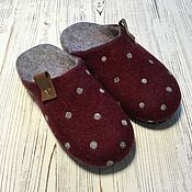 Обувь ручной работы handmade. Livemaster - original item Slippers felted female