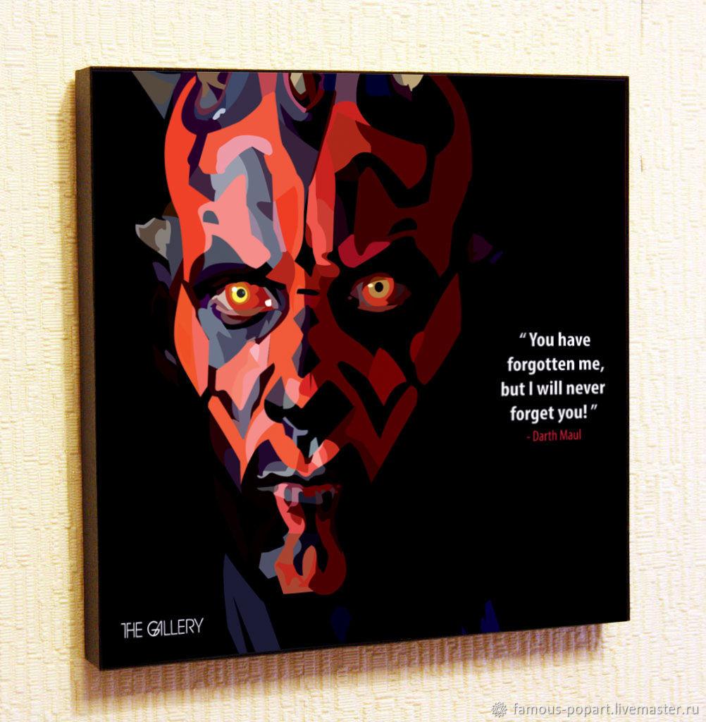Картина постер Дарт Мол Звездные войны Star Wars в стиле Поп-арт, Фотокартины, Москва,  Фото №1