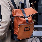 Сумки и аксессуары handmade. Livemaster - original item City backpack made of Caramel leather. Handmade.