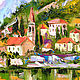 Order Oil painting with the sea 'of the Bay of Kotor, Montenegro'. Multicolor Gallery. Livemaster. . Pictures Фото №3
