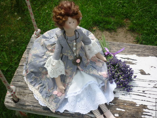 Куклы Тильды ручной работы. Ярмарка Мастеров - ручная работа. Купить Интерьерная куколка в стиле Тильда. Handmade. Серый