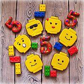 handmade. Livemaster - original item Gingerbread LEGO set. Handmade.