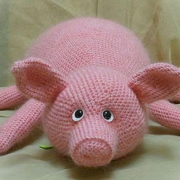 Textiles handmade. Livemaster - original item Car/sofa pig. Handmade.