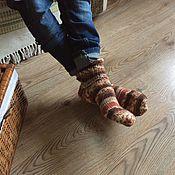 """Аксессуары ручной работы. Ярмарка Мастеров - ручная работа Вязаные носки """"Просто носки """"Какао с корицей"""". Handmade."""