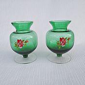 Винтаж handmade. Livemaster - original item Vases, vintage Bohemian glass. Handmade.