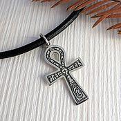 Украшения handmade. Livemaster - original item Ankh egyptian cross pendant sterling silver crux ansata pendant handcr. Handmade.